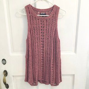 WOMEN'S NEW! A.E.O. Crocheted Top SIZE M